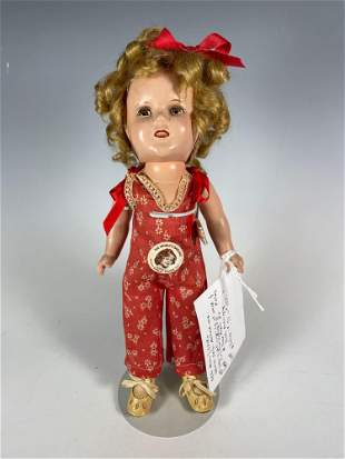 """13"""" Ideal Shirley Temple Composition Doll Original"""