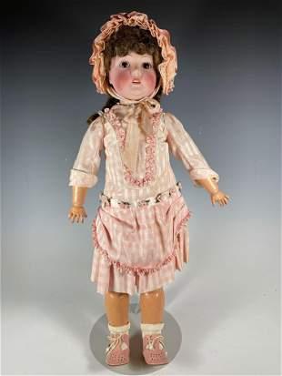 """25"""" Cm Bergmann  German Bisque Head Doll"""