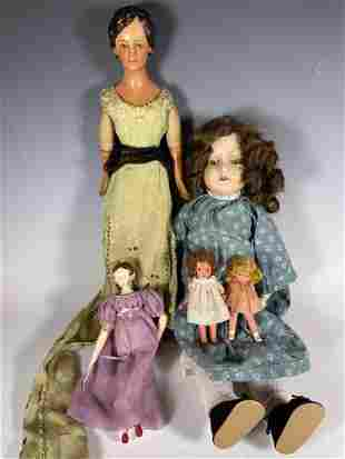 Group Lot of 5 Vintage Dolls