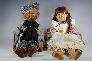 """24"""" Wood & Cloth Chickary County Kid Doll Boy and"""