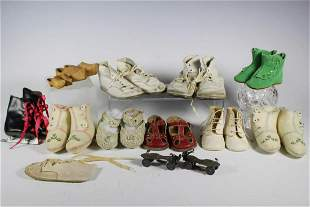 Ten Pairs of Vintage Doll Shoes