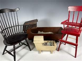 Group of Vintage Doll Size Furniture