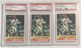 (3) 1976 Topps #230 Carl Yastremski PSA Graded Cards