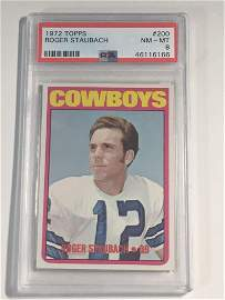 1972 Topps #200 Roger Staubach Rookie PSA 8