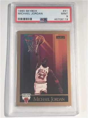 1990 Skybox #41 Michael Jordan PSA 9