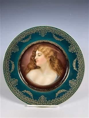 Royal Vienna Portrait Cabinet Plate