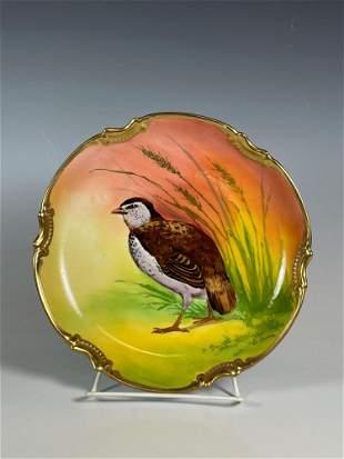 Signed Limoges French Porcelain Bird Plate