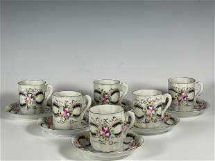 19th Century Egg Shell Porcelain Cups and Saucers