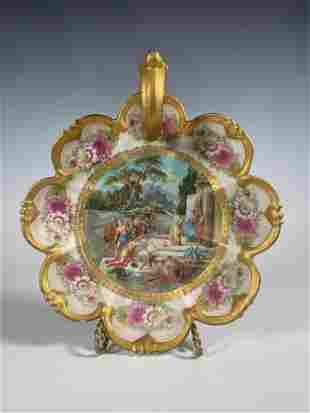Royal Vienna Austria Handled Candle Dish