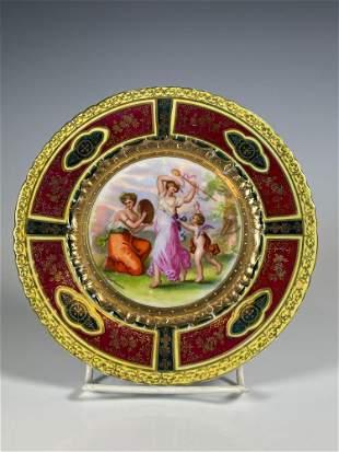 Royal Vienna Austrian Plate Signed Kaufmann