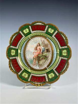 19th Century Royal Austria Hand Painted Cabinet Plate