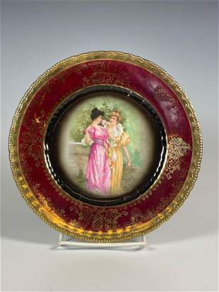 Beehive Royal Vienna Portrait Cabinet Plate