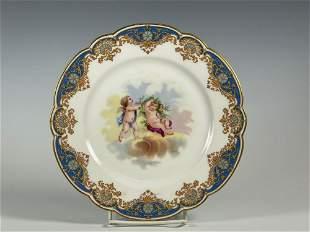 Artist Signed Chateau Des Tuileries Sevres Porcelain