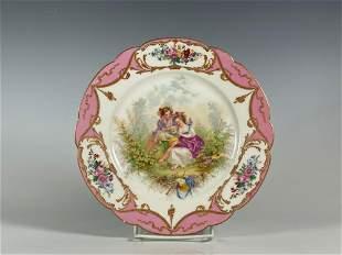 Fine Chateau Des Tuileries Sevres Porcelain Plate