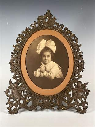 Fabulous Large Victorian Cast Iron Picture Frame with