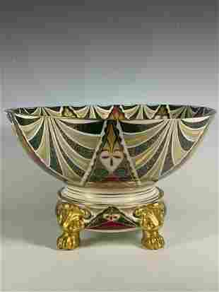 Vienna Austrian Art Deco ALHAMBRA Footed Punch Bowl