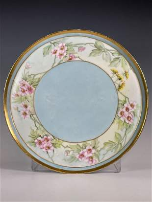 French T & V Limoges Hand Painted Serving Tray