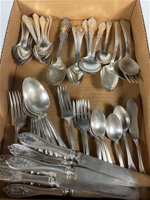 Partial 1847 Rogers Bros Silver Plate Flatware Set and