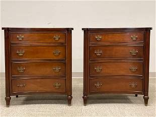 Pair of Fine Quality Mahogany Bachelor Chests