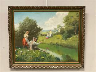 Signed 20th Century Oil Painting on Canvas