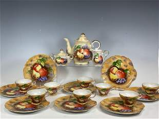 19th Century Lunch Service for Eight with Tea Pot