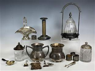 Silver Plate Service Pieces Group Lot