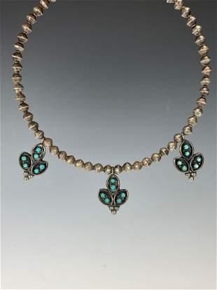 Southwest Native American Choker Necklace w/ Pendants