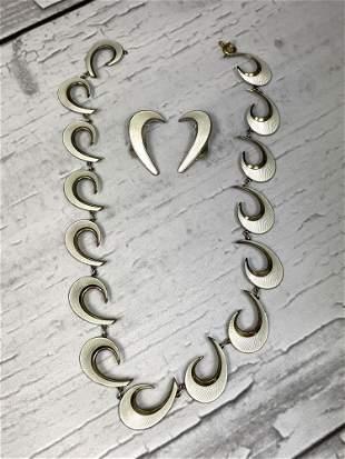 Vintage Scandinavian Sterling Silver and Enamel Jewelry