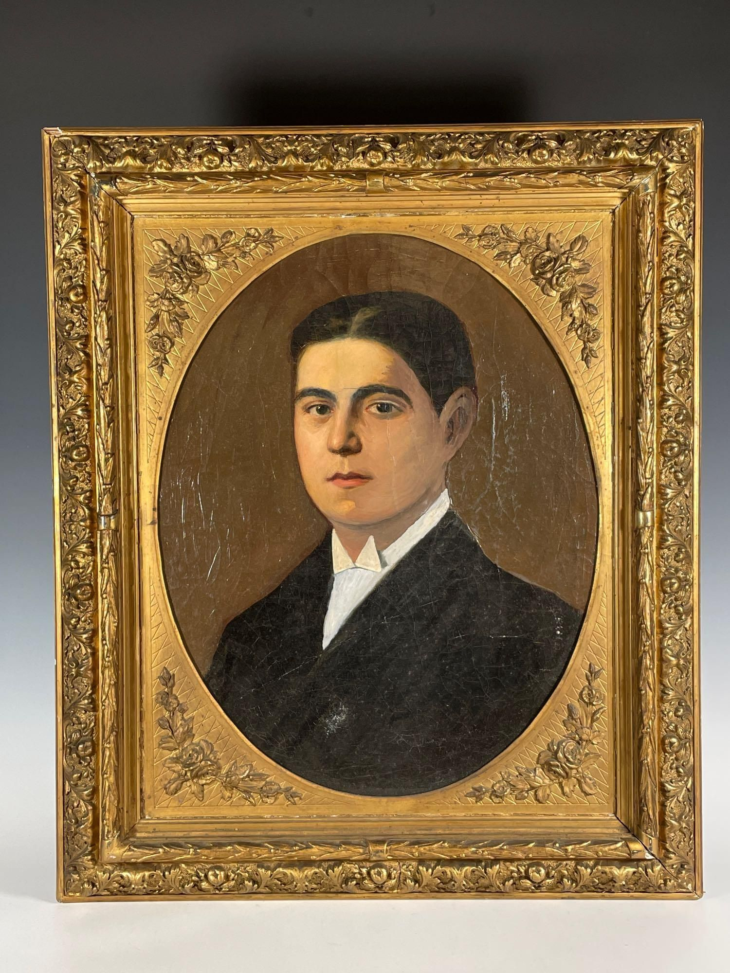 Early 19th Century Oil on Canvas Portrait Painting