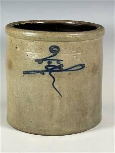 Two Gallon Bee Sting Salt Glaze Stoneware Crock