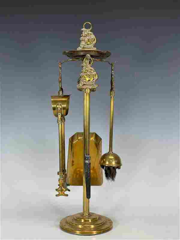 Fine Miniature English Mayflower Brass Fireplace Tool