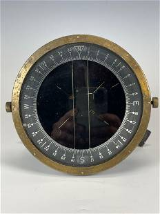 19th Century Cast and Brass Ships Nautical Compass
