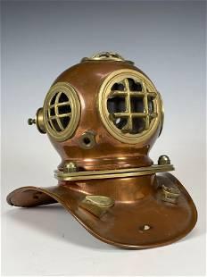 Miniature Copper Divers Helmet