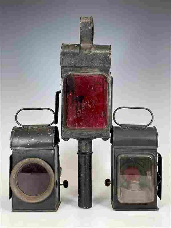 Three Antiques Carriage Lanterns