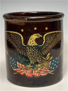 Two (2) Gallon Stonware Crock with American Eagle US