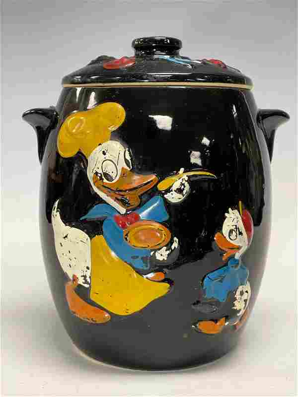 1950's Donald Duck Cookie Jar Walt Disney Productions