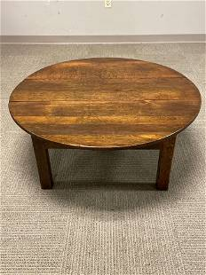 19th C. English Round Oak Table
