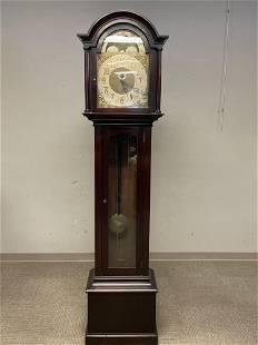 German Mahogany Mechincal Dial Tall Case Clock