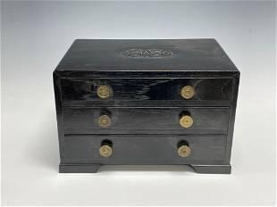 Teak Wood Three Drawer Gentleman's Chest