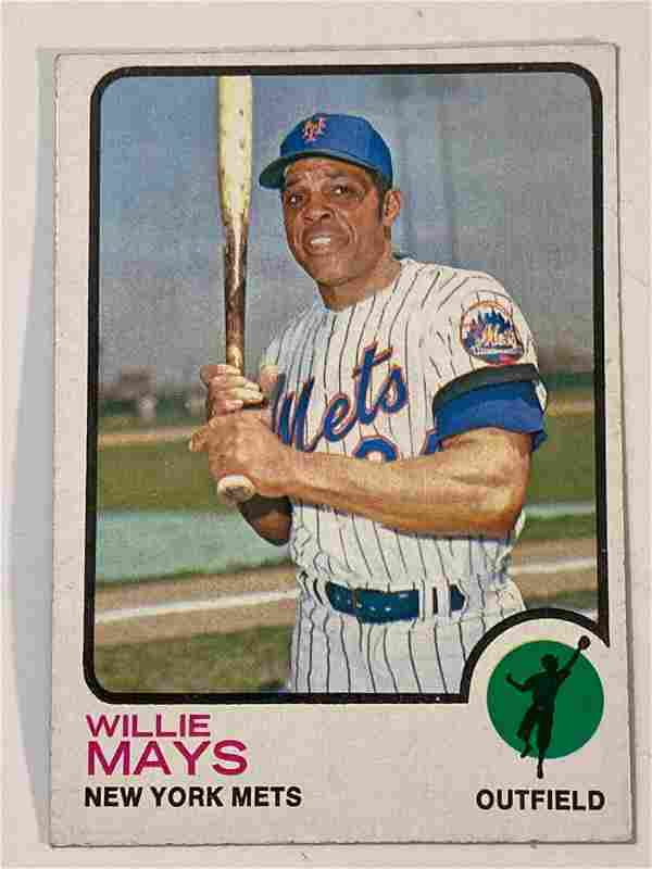 1973 Topps #305 Willie Mays New York Mets
