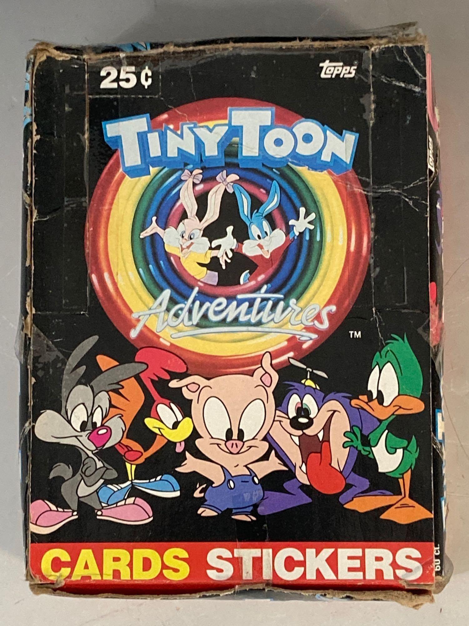 1991 Tiny Toon Unopened Wax Pack Box Topps