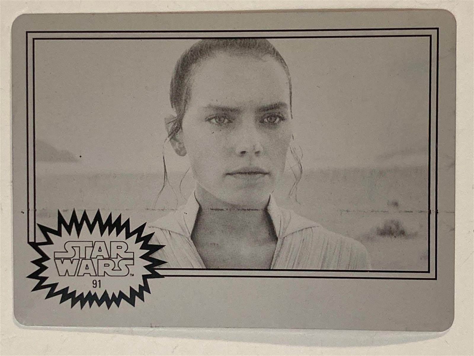 2019 Star Wars Black Printing Plate 1/1 #91 Rey