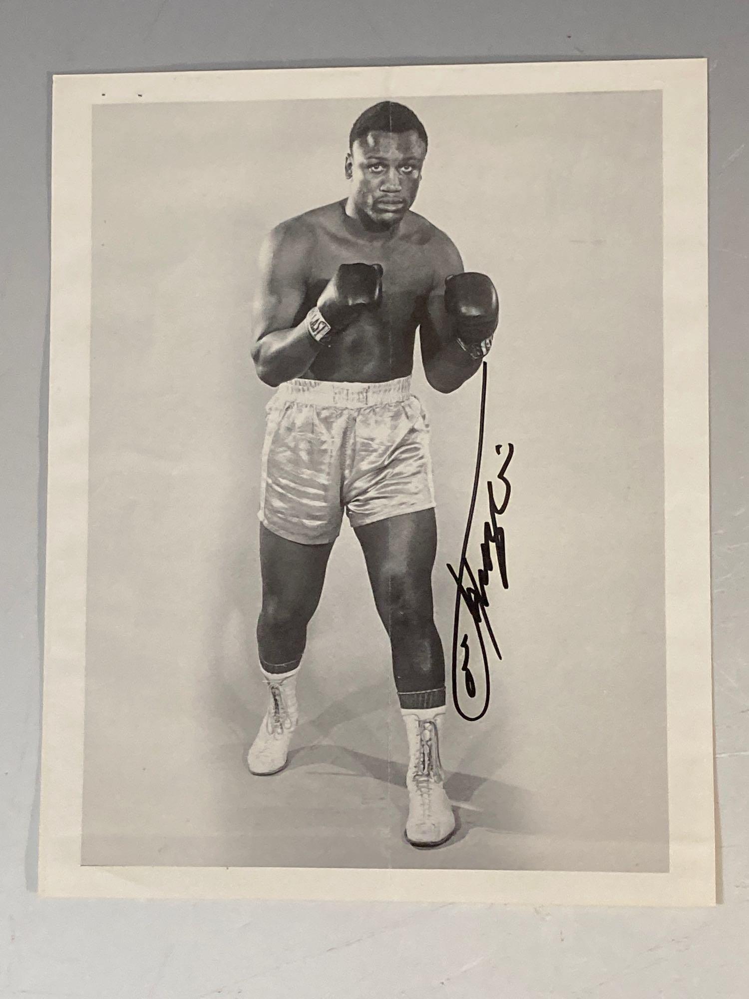 Joe Frazier Autographed Publicity Photo