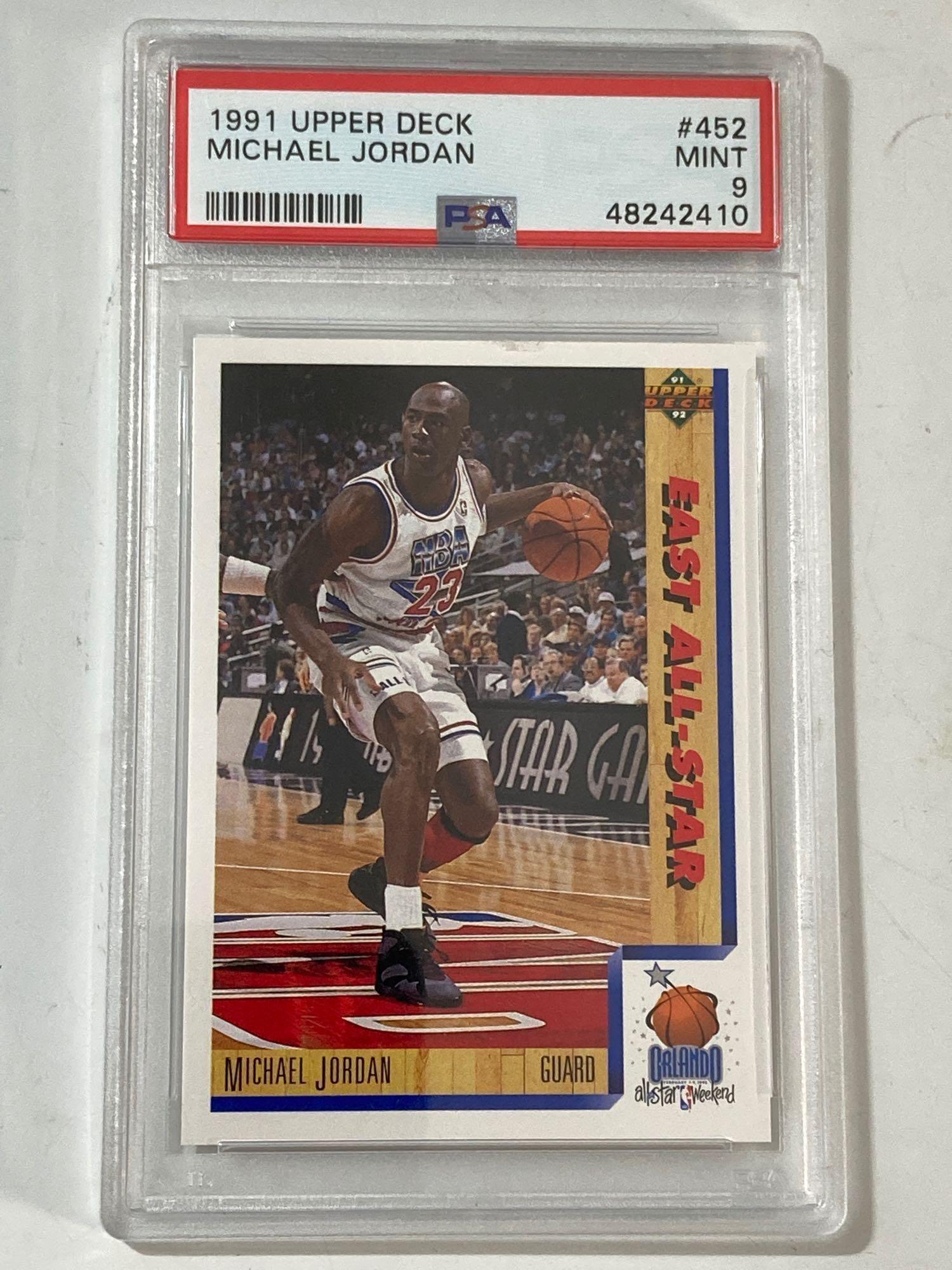 1991 Upper Deck #452 Michael Jordan PSA 9