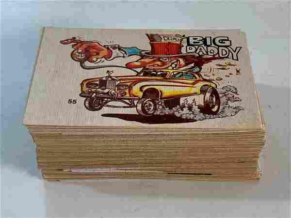 1970's Donruss Odd Rods Sticker/Decal Cards (75)+