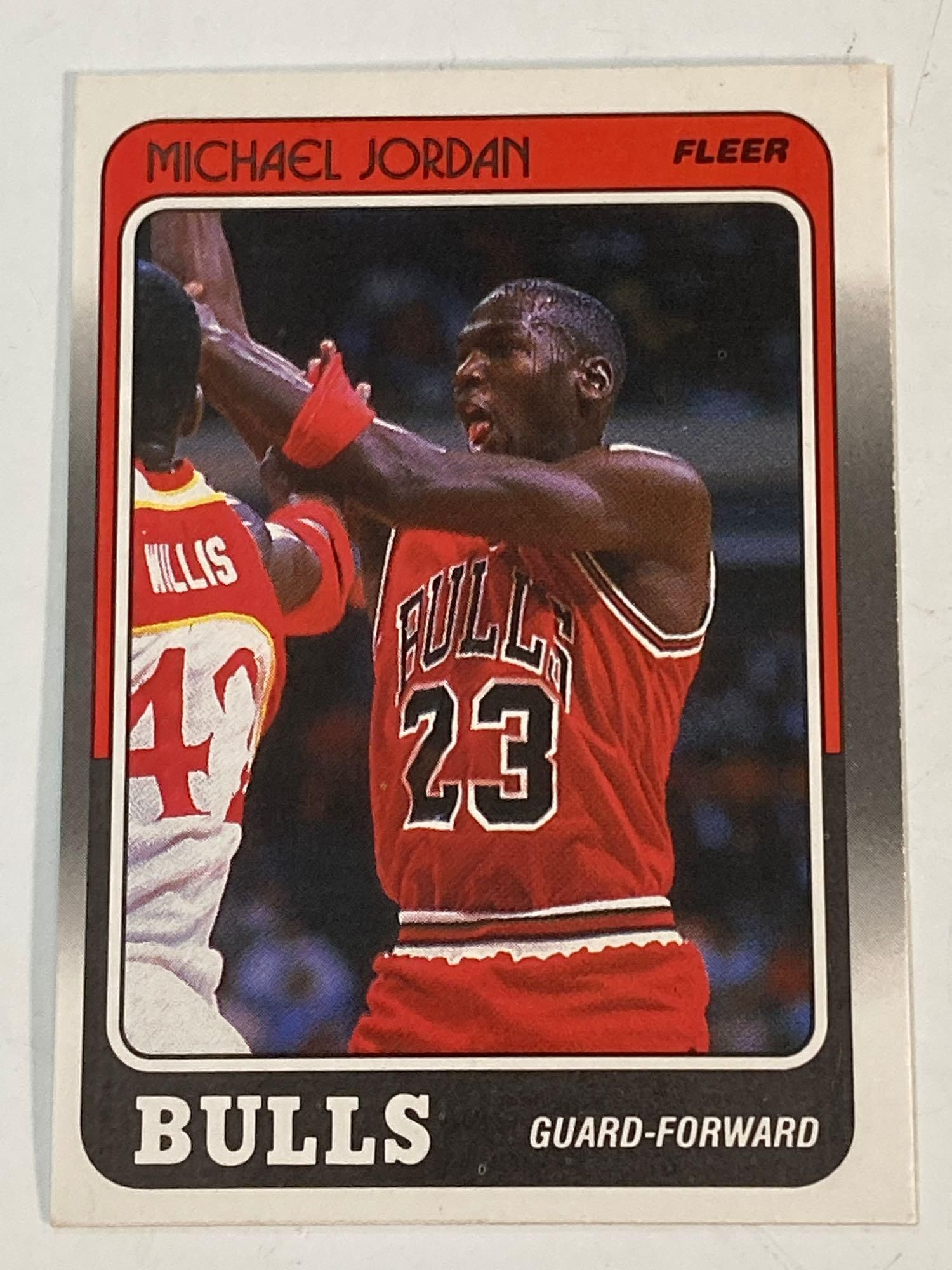 1988 Fleer #17 Michael Jordan Chicago Bulls