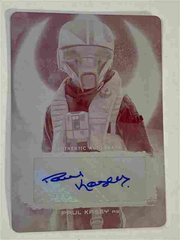2018 Star Wars Autographed Paul Kasey Printing Plate