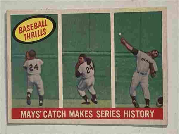 1959 Topps # 464 Willie Mays Baseball Thrills