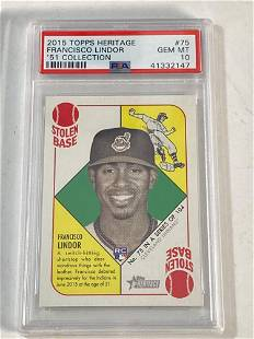 2015 Topps Heritage '51 Collection Lindor Rookie PSA 10