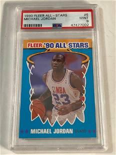 1990 Fleer All-Star #5 Michael Jordan PSA 9 MINT